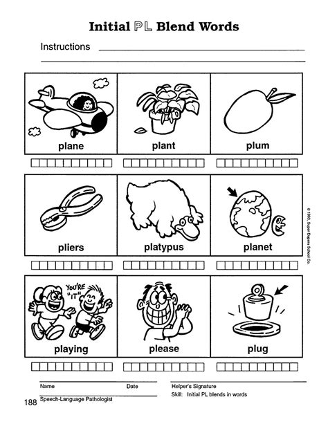 speech therapy with miss l blend words