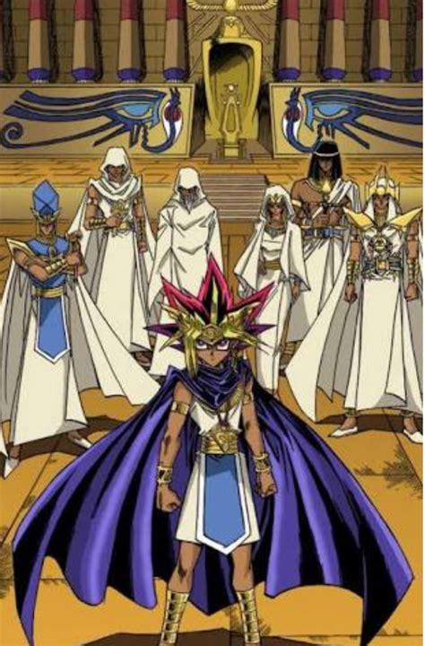 yu gi oh yugioh pharaoh yami yugi ancient monsters duel priests millennium manga colored history egyptians dragon mahad atem anime