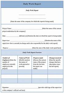 Daily Report Template Word : Selimtd