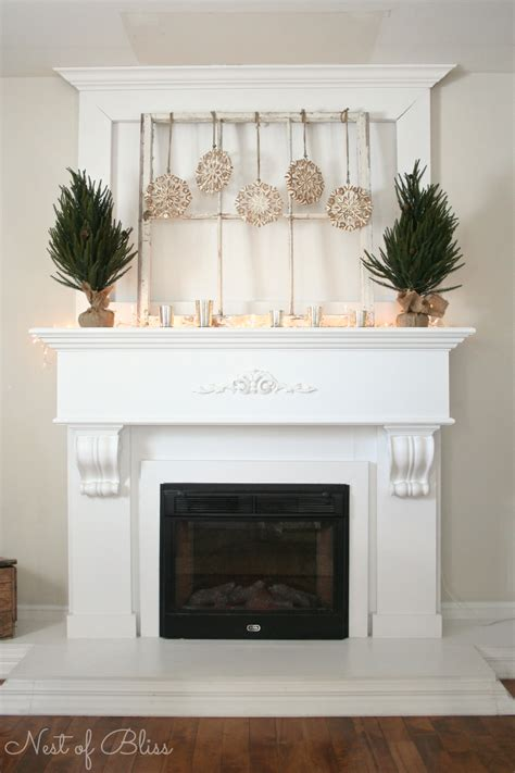 winter mantel decorating for winter nest of bliss