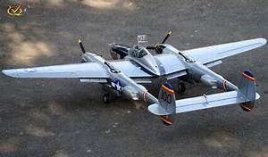 Vq P-38 Lightning 46 Size Ep-gp - Vqa024 - Silver