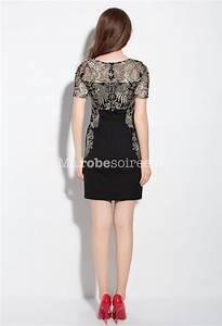 robe fourreau broderie magnifique manches courtes With robe fourreau combiné avec bracelet luxe homme