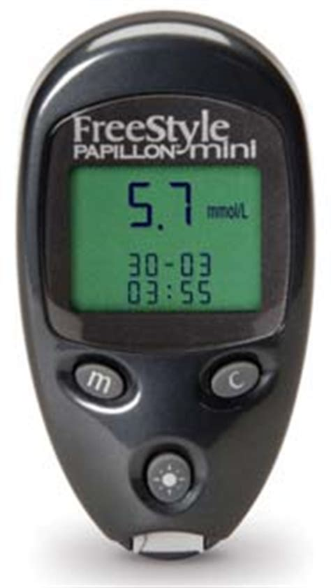 freestyle papillon mini blood glucose monitoring system