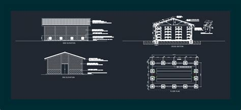rural seed storage shed  autocad cad   mb