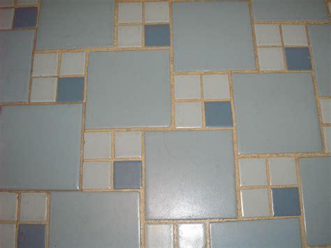 replicating s blue 50s bathroom tile floor retro
