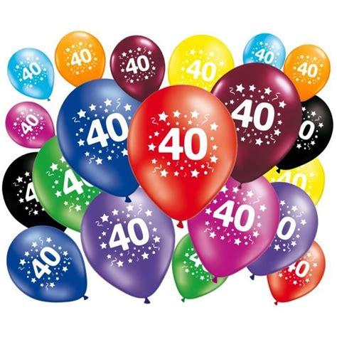 photo 40 ans 20 ballons anniversaire 40 ans achat vente ballon d 233 coratif cdiscount