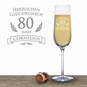 Geldgeschenke Zum 80 Geburtstag : sektglas zum 80 geburtstag individuell graviertes sektglas ~ Frokenaadalensverden.com Haus und Dekorationen