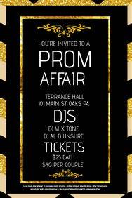 Prom Invitation Templates Customizable Design Templates For Prom Postermywall