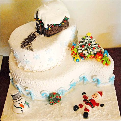 unusual christmas cake decorations unique cake ideas p2 easy home bakery theme bored fast food