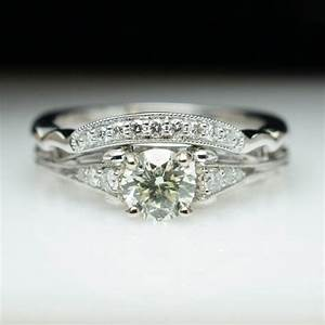 vintage antique style diamond engagement ring wedding With antique style wedding ring sets