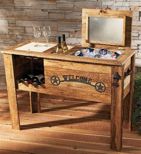 wood cooler plans wooden  outdoor furniture woodworking projects lovingbbt