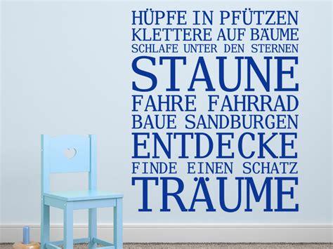 Wandtattoo Kinderzimmer Sprüche by Wandtattoo Spruchbanner Jungen Wandtattoo Net