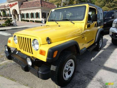 jeep yellow 2000 solar yellow jeep wrangler sport 4x4 37946432