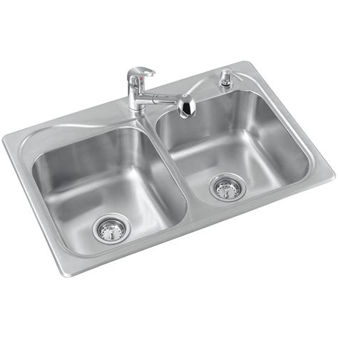 sterling southhaven double basin kitchen sink lowes canada