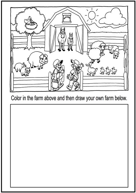 farm animals worksheets for kindergarten pdf esl