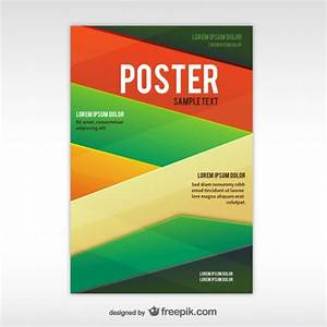 Geometric abstract poster template vector free download for Eposter template
