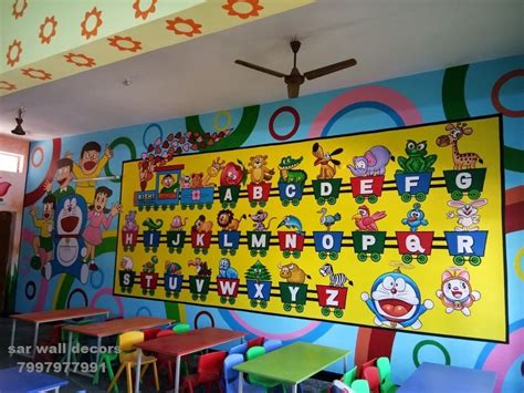 wall painting  play school wall painting