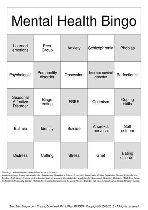 15 best images of free mental health worksheets printable