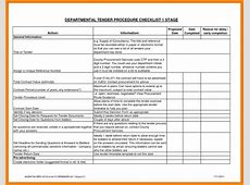 Template Tender Document