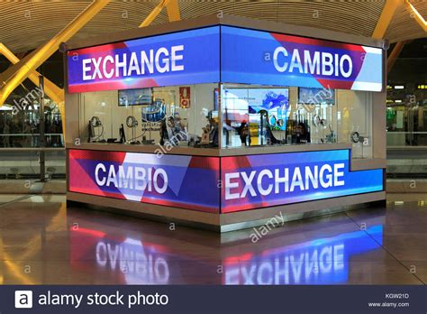 at currency exchange counter stock photos at currency