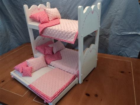 doll bunk bed  trundle   american girl