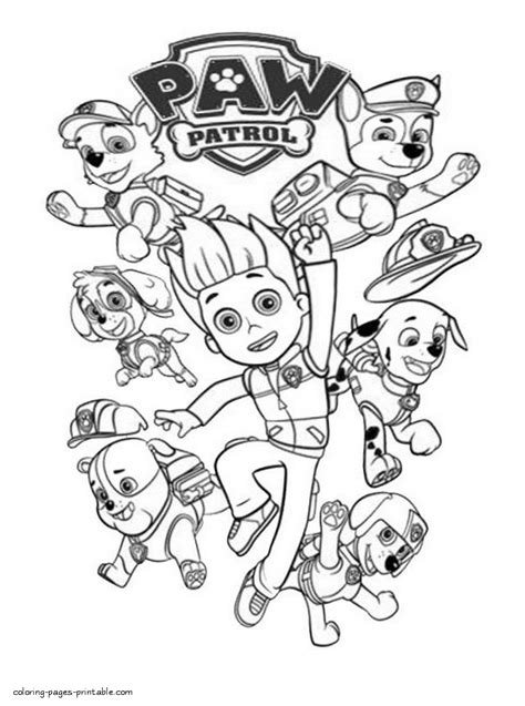 patrulha canina desenhos  colorir