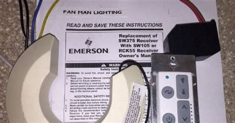 emerson sw350 light fan control fan man lighting emerson sw375 or sw105 to rck55 conversion