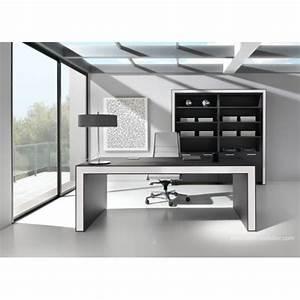 Bureau Noir Et Blanc : bureau de direction belesa finition ch ne noir et blanc ~ Melissatoandfro.com Idées de Décoration