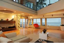 Beautiful Home Design With Modern Vintage Interior Ocean View Ocean Front Walk PH Living Room Ocean View Dusk 1 300x199 3111 Ocean