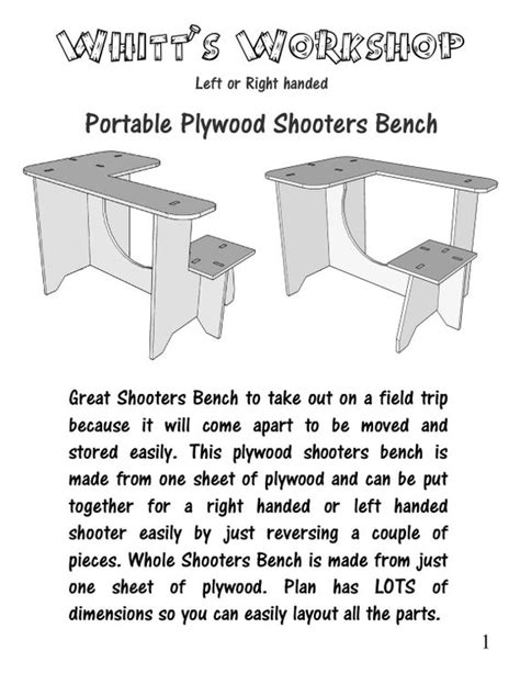 plywood shooters bench table  file wood plans