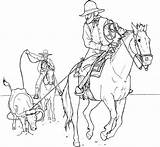 Coloring Cowboy Pages Printable Cowboys Adults Boy Coloringpages1001 sketch template