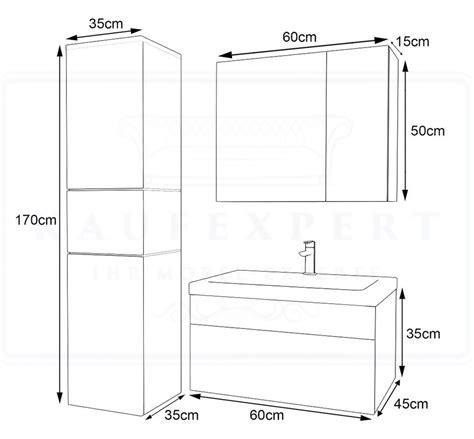 Badezimmermöbel Maße by Kaufexpert Badm 246 Bel Set Ledox 170 Cm Wei 223 Hochglanz