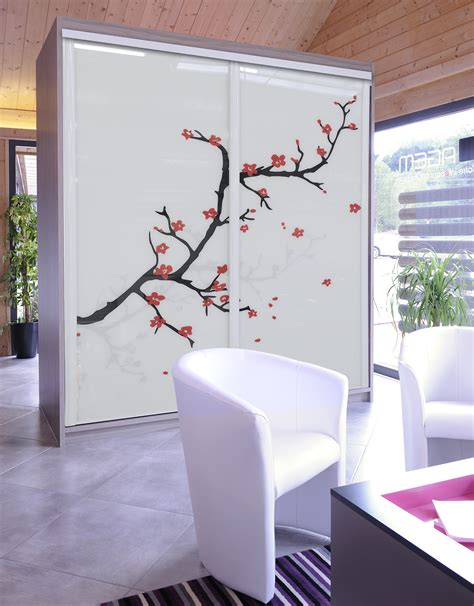 separation de bureau en verre façade verre laqué dressing concept