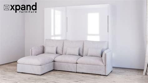 bed settee murphysofa adagio luxury wall bed sofa system