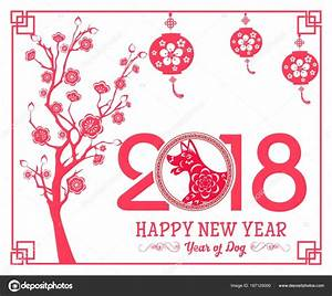 Happy Chinese New Year 2018 year of the dogLunar new