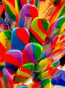 Rainbow Colored Lollipops
