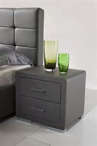 table de chevet design gris comforium