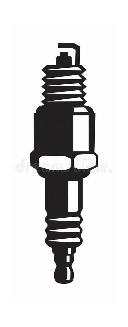 Spark Plug Bougie Drawing Vector Sparkplug Line
