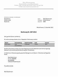 Rechnung Schreiben Ohne Gewerbe Muster : abrechnung ber gewerbeschein f r hostessen promoter etc ~ Themetempest.com Abrechnung