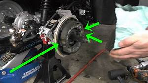 How To Change Rear Brakes On Honda Rancher 350  Also Stuck Rear Brake Fix  2000