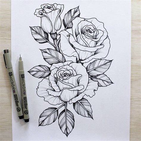 25+ Great Ideas About Rose Outline On Pinterest