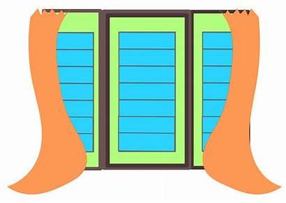 Window Clipart Windows Clip Open Curtains Homeowner