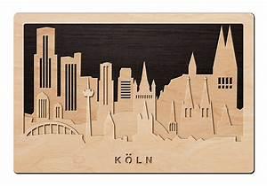 Schriftzüge Aus Holz : 3d wandbild aus holz skyline k ln 2017 einfach pers nlich ~ Frokenaadalensverden.com Haus und Dekorationen