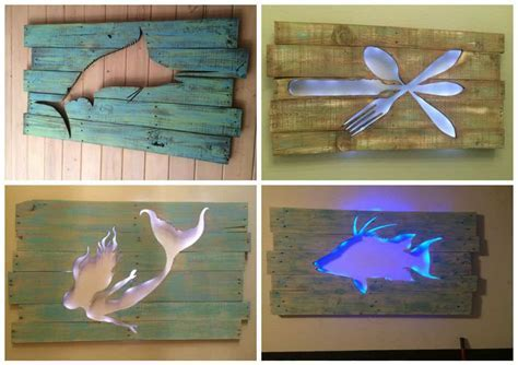 Pallet Marlin Wall Art with Led Lighting ? 1001 Pallets