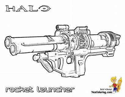 Coloring Halo Xbox Pages Weapon Launcher Rocket