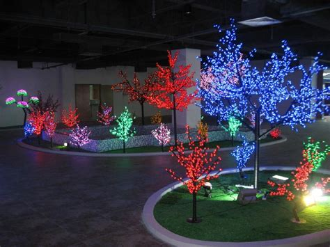 chagne colored tree new design color change led tree light mxg ct 6912l