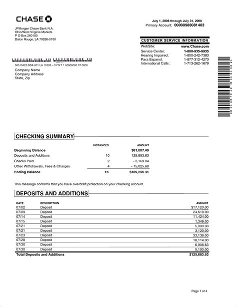 bank statement template 6 bank statement templatereport template document report template
