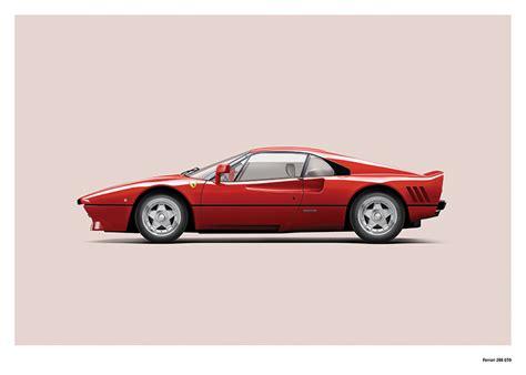 Carsbase has a great collection of ferrari car photos. Ferrari 288 GTO art print • Simply Petrol
