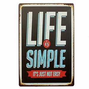 Plaque Vintage Metal : life tin sign retro vintage metal plaque pub bar home wall decor ~ Teatrodelosmanantiales.com Idées de Décoration