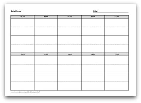 selection  printable daily planner formats